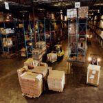 custos logísticos - foto panorâmica do armazém de uma indústria